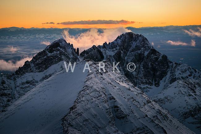 Sunset on Crestone Needles, Sangre de Cristo mountains.  March 2014. 81086