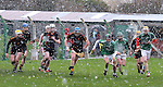 30/1/2016  (centre) Conor Houlihan, Ard Scoil Ris, in action against Barry Murphy St. Colman's College. St. Colman's College v Ard Scoil Ris, Harty Cup Semi-Final, Killmallock, Co. Limerick <br /> Picture Credit: Gareth Williams /  Press 22