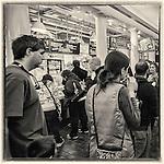 Inside Quincy Market in Boston, MA