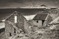 Stone house ruins. Slea Head Drive. County Kerry, Ireland