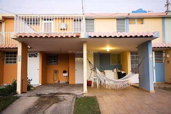 Houses in Rincón, Puerto Rico on 30th December 2011.