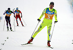 Borut Mavc (SLO) competes during the Nordic Combined NH Team Gundersen as part of the Winter Universiade Trentino 2013 on 18/12/2013 in Lago Di Tesero, Italy.<br /> <br /> &copy; Pierre Teyssot - www.pierreteyssot.com