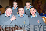GETTING THEM RIGHT: Getting many of the questions correct in the Religion Quiz on Tuesday in the fel's Point Hotel from front l-r were: Alan Nolan, Donal Moynihan and Andrew Thompson. Back l-r were: Conor Guilfoyle and Kieran Brosnan.   Copyright Kerry's Eye 2008