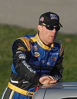 Feb 24, 2007; Fontana, CA, USA; Nascar Busch Series driver Kevin Harvick (33) during the Stater Bros 300 at California Speedway. Mandatory Credit: Mark J. Rebilas