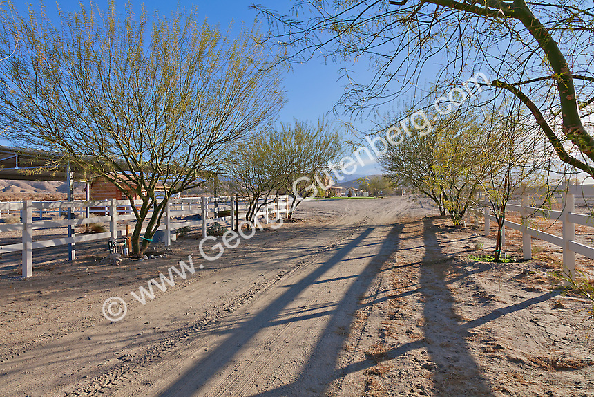 Dirt roads lead to ranch property