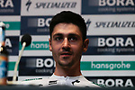Emanuel Buchmann (GER) Bora Hansgrohe at the team press conference before the 2019 Tour de France starting in Brussels, Belgium. 5th July 2019<br /> Picture: Colin Flockton | Cyclefile<br /> All photos usage must carry mandatory copyright credit (© Cyclefile | Colin Flockton)