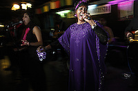 NEW YORK - SEP 25: Naomi Shelton and The Gospel Queens perform at the Fat Cat in the West Village on Friday, September 25, 2009 in New York City. (Photo by Landon Nordeman)