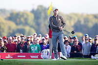 Thomas Pieters (Team Europe) on the 3rd tee during the Saturday morning Foursomes at the Ryder Cup, Hazeltine national Golf Club, Chaska, Minnesota, USA.  01/10/2016<br /> Picture: Golffile | Fran Caffrey<br /> <br /> <br /> All photo usage must carry mandatory copyright credit (&copy; Golffile | Fran Caffrey)