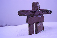 Inukshuk on Whistler Mountain, Whistler Ski Resort, BC, British Columbia, Canada - Symbol of the 2010 Winter Olympics