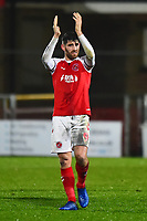 Fleetwood Town's Ched Evans applauds the fans<br /> <br /> Photographer Richard Martin-Roberts/CameraSport<br /> <br /> The EFL Sky Bet League One - Fleetwood Town v Coventry City - Tuesday 27th November 2018 - Highbury Stadium - Fleetwood<br /> <br /> World Copyright &not;&copy; 2018 CameraSport. All rights reserved. 43 Linden Ave. Countesthorpe. Leicester. England. LE8 5PG - Tel: +44 (0) 116 277 4147 - admin@camerasport.com - www.camerasport.com