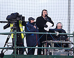 Tom Miller and Derek Johnstone on Rangers TV commentary duties out on top of the scaffolding