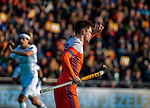 ROTTERDAM - Thierry Brinkman (NED)  scoort maar het doelpunt wordt afgekeurd  tijdens   de Pro League hockeywedstrijd heren, Nederland-Spanje (4-0) . COPYRIGHT KOEN SUYK