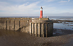 Victorian  Harbour Lighthouse navigational aid, Watchet, Somerset, England