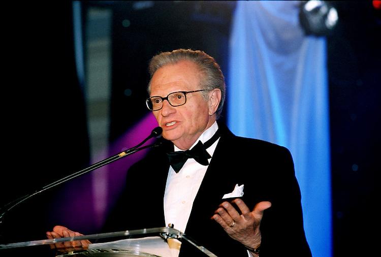 Larry King speaks. The Larry King Cardiac Foundation  Gala. Professional Image Photography by John Drew