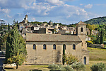 View of the village of Lourmarin from the grounds of the Château de Lourmarin.