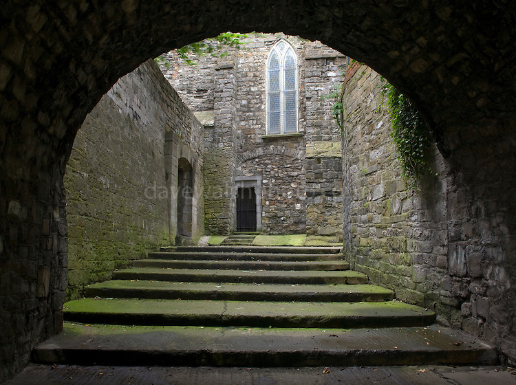 This archway leads through Dublin's original city walls and up the famous 40 steps The gate is dated to 1241 AD, the Norman period, while the church tower dates to 1190, and the bells to 1423. The steps here are connected to a ghost story involved the notorious prostitute Darkey Kelly...