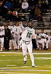 November 12, 2011:Hawaii quarterback Shane Austin throws a pass in the third quarter during a WAC league game vs Nevada played at Mackay Stadium in Reno, Nevada.