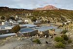 Village in dry puna, Loma Blanca, Abra Granada, Andes, northwestern Argentina