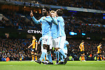 Wilfried Bony of Manchester City celebrates the opening goal - Manchester City vs Hull City - Capital One Cup - Etihad Stadium - Manchester - 29/12/2015 Pic Philip Oldham/SportImage