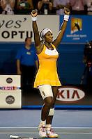 Serena Williams (USA) (1) against Justine Henin (BEL) in the Final of the Womens Singles. Williams beat Henin  .6-4 3-6 6-2..International Tennis - Australian Open Tennis - Sat 30  Jan 2010 - Melbourne Park - Melbourne - Australia ..© Frey - AMN Images, 1st Floor, Barry House, 20-22 Worple Road, London, SW19 4DH.Tel - +44 20 8947 0100.mfrey@advantagemedianet.com