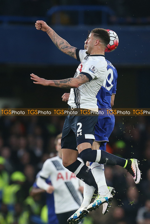 Diego Costa of Chelsea and Kyle Walker of Tottenham Hotspur during Chelsea vs Tottenham Hotspur, Barclays Premier League Football at Stamford Bridge on 2nd May 2016