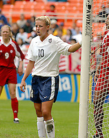 Aly Wagner , USWNT vs Canada April 26, 2003.