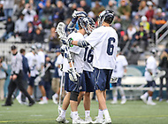 Washington, DC - April 7, 2018: Georgetown Hoyas celebrates after a goal during game between Providence and Georgetown at  Cooper Field in Washington, DC.   (Photo by Elliott Brown/Media Images International)