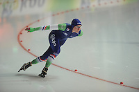 SCHAATSEN: ERFURT: Gunda Niemann Stirnemann Eishalle, 21-03-2015, ISU World Cup Final 2014/2015, Linda de Vries (NED), ©foto Martin de Jong