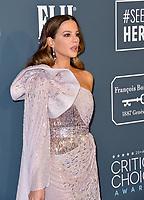 SANTA MONICA, USA. January 12, 2020: Kate Beckinsale at the 25th Annual Critics' Choice Awards at the Barker Hangar, Santa Monica.<br /> Picture: Paul Smith/Featureflash