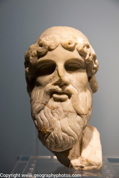 Bust of God of Wine Jerez archaeology museum, Jerez de la Frontera, Cadiz Province, Spain