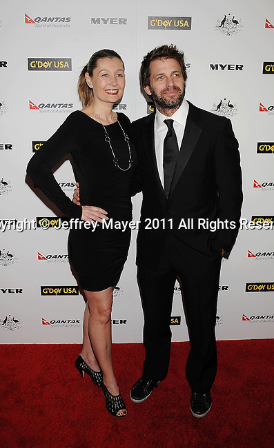 HOLLYWOOD, CA - January 22: Zack Snyder and Debbie Snyder arrive at the G'Day USA Australia Week 2011 Black Tie Gala at the Hollywood Palladium on January 22, 2011 in Hollywood, California.