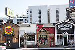 Funky shops on Sunset Boulevard in West Hollywood, CA