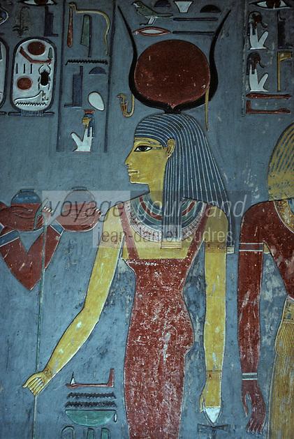 Afrique/Egypte/Louxor/Ancienne Thèbes/Vallée des Rois: Le tombeau de Horemheb - 18ème dynastie - Intérieur