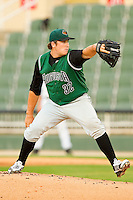 Augusta GreenJackets starting pitcher Clayton Blackburn #32 in action against the Kannapolis Intimidators at CMC-Northeast Stadium on May 3, 2012 in Kannapolis, North Carolina.  The Intimidators defeated the GreenJackets 11-1.  (Brian Westerholt/Four Seam Images)