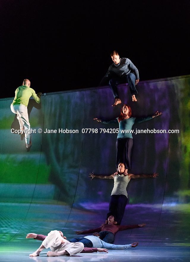 "Motionhouse presents ""Scattered"", at the Peacock Theatre. The performers are: Martina Bussi, Daniel Connor, Junior Cunningham, Chris Knight, Naomi Tadevossian, Alasdair Stewart, Becci Williams."