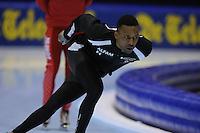 SCHAATSEN: HEERENVEEN: Thialf, Essent ISU World Cup, 02-03-2012, Shani Davis (USA) warming up 1500m, ©foto: Martin de Jong
