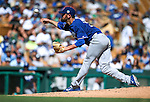 L.A. Dodgers' Louis Coleman pitches in a spring training game in Glendale, Ariz., on Saturday, March 19, 2016. <br />