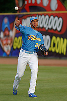 Myrtle Beach Pelicans pitcher Daury Torrez (38) before a game against the Winston-Salem Dash at Ticketreturn.com Field at Pelicans Ballpark on April 23, 2015 in Myrtle Beach, South Carolina.  Myrtle Beach defeated Winston-Salem  6-0. (Robert Gurganus/Four Seam Images)