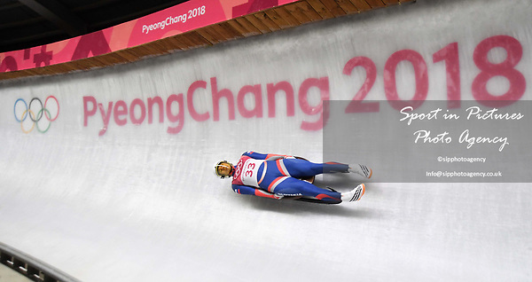 Jakub Simonak (SVK). Mens luge. Pyeongchang2018 winter Olympics. Alpensia sliding centre. Alpensia. Gangneung. Republic of Korea. 11/02/2018. ~ MANDATORY CREDIT Garry Bowden/SIPPA - NO UNAUTHORISED USE - +44 7837 394578