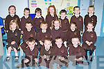 Junior infants on their first day of school in Lissivigeen NS, Killarney on Thursday front row l-r: James O'Connor, Daniel O'Connell, Darragh Brosnan, Donagh O'Connor. Middle row: Muireann O'Brien, Jason O'Sullivan, Harry Bolger, Chloe Nash, Siofra Brosnan, Dani Tangney-Kissane. Back row: Chris O'Leary-Sacristan, Oisin Lynch, Jason O'Reilly, Rhea O'Sullivan, Diarmuid Quirke, Noel Casey and Neil O'Carroll..