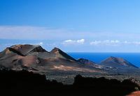 Spanien, Kanarische Inseln, Lanzarote, Timanfaya Nationalpark:  Vulkanlandschaft | Spain, Canary Island, Lanzarote, Timanfaya National park: vlcanoes