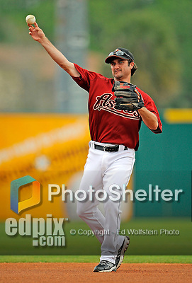 16 March 2008: Houston Astros outfielder David Newhan warms up prior to a Spring Training game against a New York Mets split squad at Osceola County Stadium, in Kissimmee, Florida...Mandatory Photo Credit: Ed Wolfstein Photo