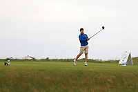 Sean Desmond (Monkstown) on the 1st tee during Round 1of the Flogas Irish Amateur Open Championship 2019 at the Co.Sligo Golf Club, Rosses Point, Sligo, Ireland. 16/05/19<br /> <br /> Picture: Thos Caffrey / Golffile<br /> <br /> All photos usage must carry mandatory copyright credit (© Golffile | Thos Caffrey)