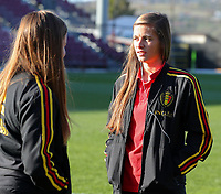 20191008 CLUJ NAPOCA: Belgium's Shari Van Belle is pictured before the match between Belgium Women's National Team and Romania Women's National Team as part of EURO 2021 Qualifiers on 8th of October 2019 at CFR Stadium, Cluj Napoca, Romania. PHOTO SPORTPIX | SEVIL OKTEM