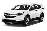 2019 Honda CR-V LX 5 Door SUV Angular Front stock photos of front three quarter view