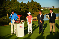 The 2018 Kia Classic Champion Eun-Hee Ji (KOR) on the 18th green for the trophy presentation during the Final Round at the Kia Classic,Park Hyatt Aviara Resort, Golf Club &amp; Spa, Carlsbad, California, USA. 1/2/12.<br /> Picture: Golffile | Bruce Sherwood<br /> <br /> <br /> All photo usage must carry mandatory copyright credit (&copy; Golffile | Bruce Sherwood)