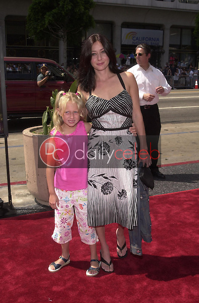 Shannon Doherty and god-daughter Cooper