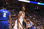 MILWAUKEE, WI - MARCH 16:  Minnesota Gophers forward Eric Curry (24) reacts to a foul call during the first half of the 2017 NCAA Men's Basketball Tournament held at BMO Harris Bradley Center on March 16, 2017 in Milwaukee, Wisconsin. (Photo by Jamie Schwaberow/NCAA Photos via Getty Images)