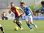 Partick Thistle v St Johnstone&hellip;10.09.16..  Firhill  SPFL<br />Chris Millar gets away from Sean Welsh<br />Picture by Graeme Hart.<br />Copyright Perthshire Picture Agency<br />Tel: 01738 623350  Mobile: 07990 594431