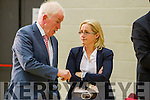 Jimmy Deenihan and Norma Moriarty at the Kerry General Election Count in Killarney.